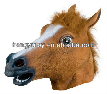 Realistic Adult Horse Masks Animal Full Overhead Latex Masks