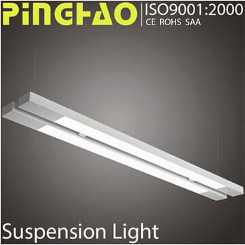 double led office suspended fluorescent lighting fixture with ce