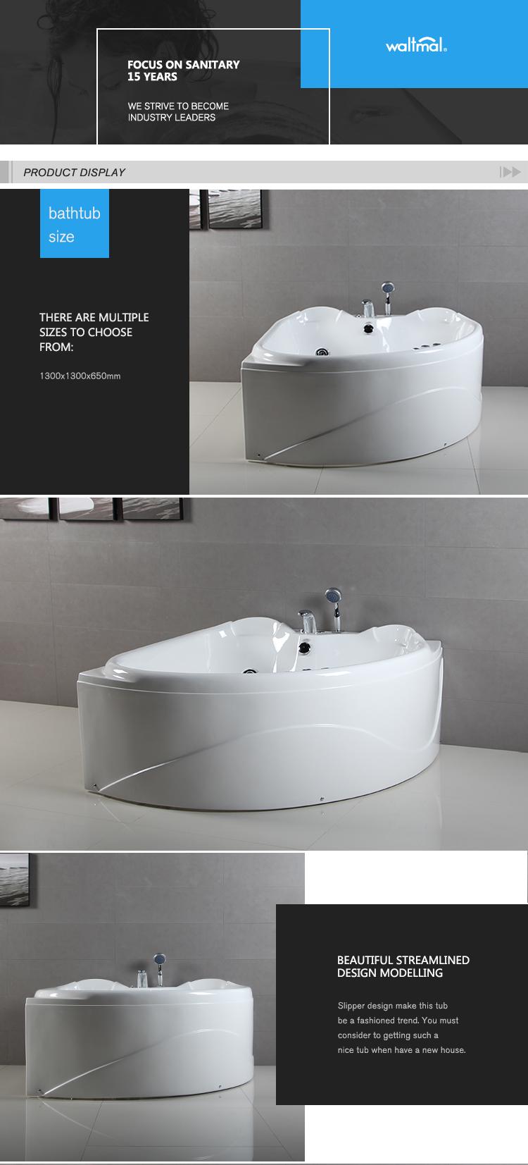 Luxury Acrylic Triangle Bathtub Wtm-02301 - Buy Triangle Bathtub ...