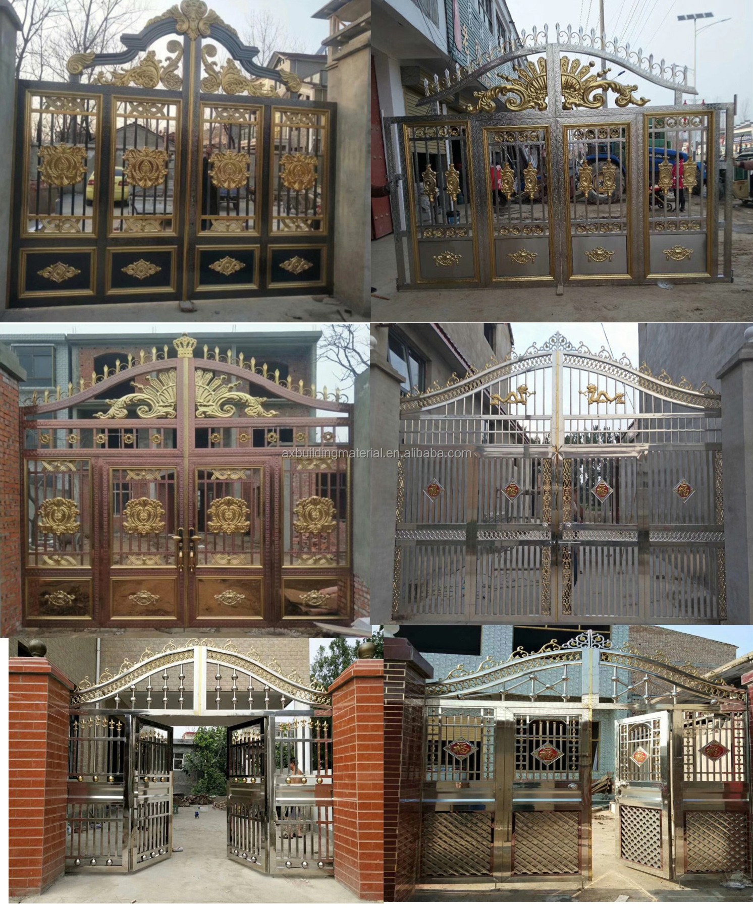 stainless steel security grill doors design