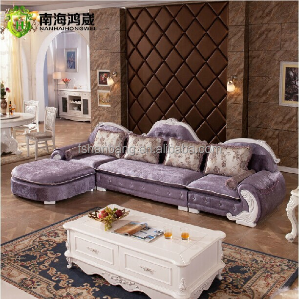 royal french provincial fabric upholstered wooden living room sofa furniture set