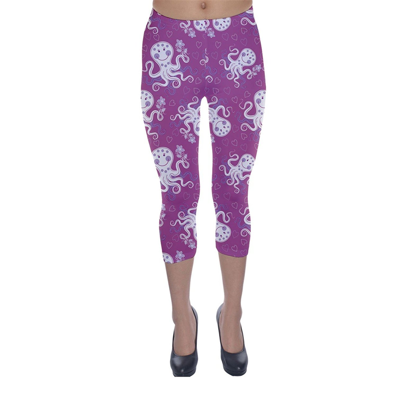 986dab6ec3d0e Get Quotations · CowCow Womens Purple Cute Octopus Stylish Design Capri  Leggings