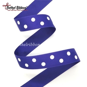 Washable Print 3cm Purple Forist Ribbon Manufacture