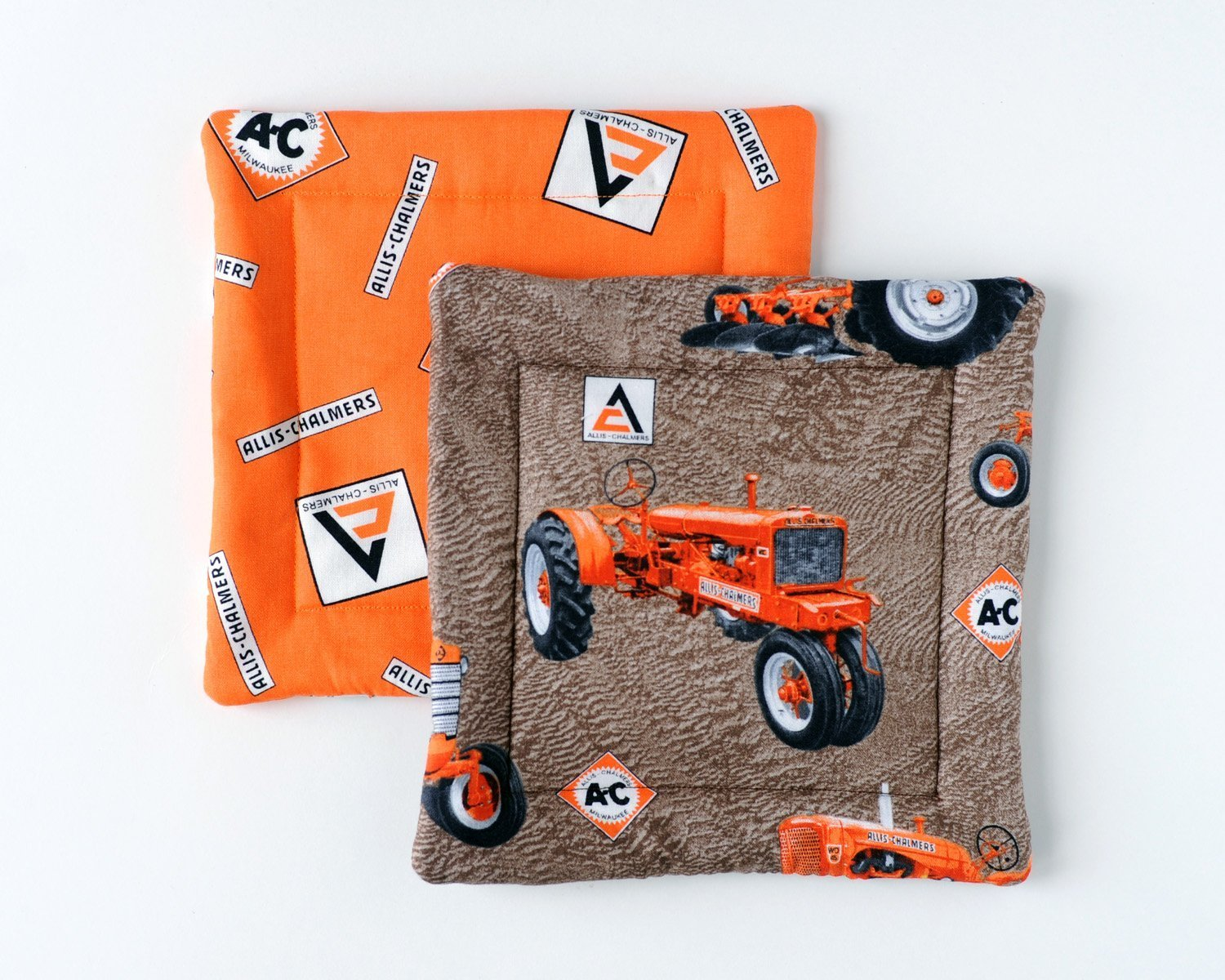 Get Quotations · Allis Chalmers Pot Holders, Set of Two, Tractors and Logos