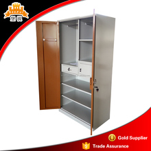 Simple model cheap modern bedroom used metal wardrobes closet sale/clothes steel wardrobe cabinet design