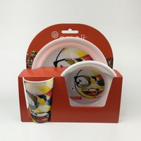 Biodegradabale Eco-Friendly Bamboo Fiber Kids Dinnerware Sets ,bamboo fiber dinner set