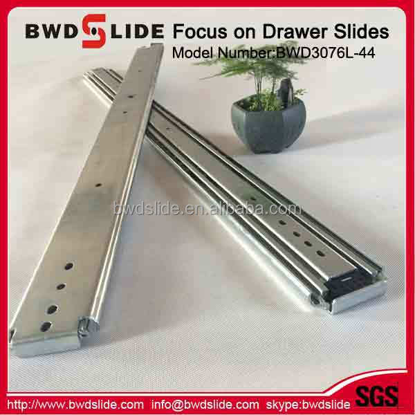 BWD3076L 46 Accuride 3 Fold Middle Duty Dining Table Extension Slides Stops