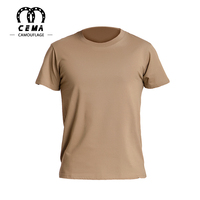 OEM service breathable military khaki men's t shirt
