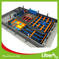 Popular Newest Games Large Indoor Amusement Games Foam Pit Basketball and Climbing Wall Trampoline Park