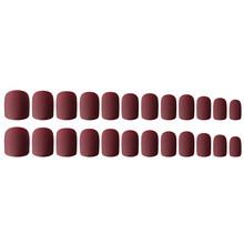 24 шт. женские накладные ногти на пальцах матовые короткие накладные ногти Сделай Сам Маникюр Безопасный Удобный в использовании NShopping(Китай)