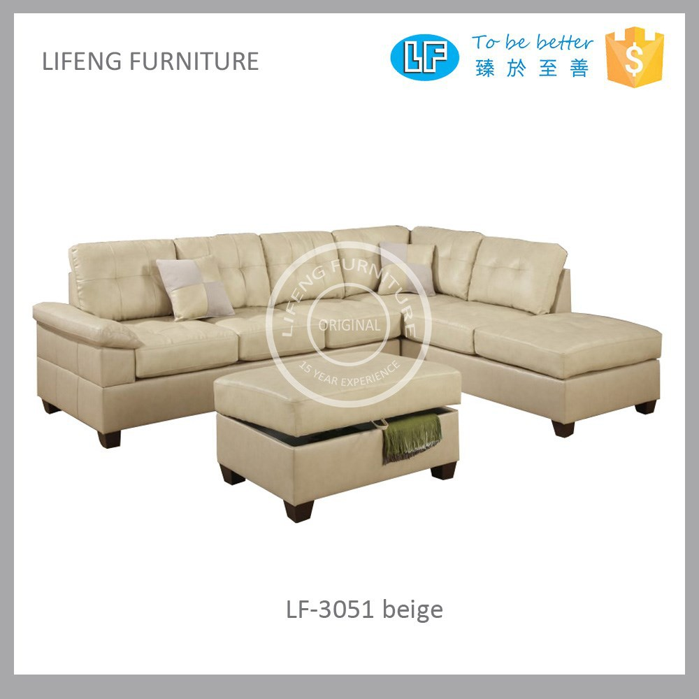 Living room furniture modern puffy and comfortable corner sofa modern l shaped sofalf 3051