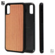 High Quality Cherry Wood TPU+PC Mobile Phone Case For iPhone X Wood Phone Case Free Sample