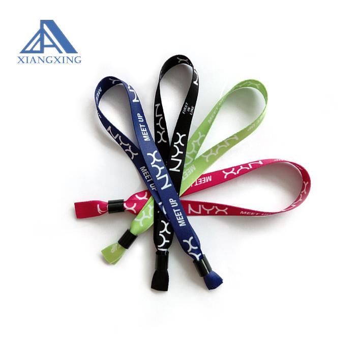 Factory Cheap Price Security identification id ribbon wristband bracelet