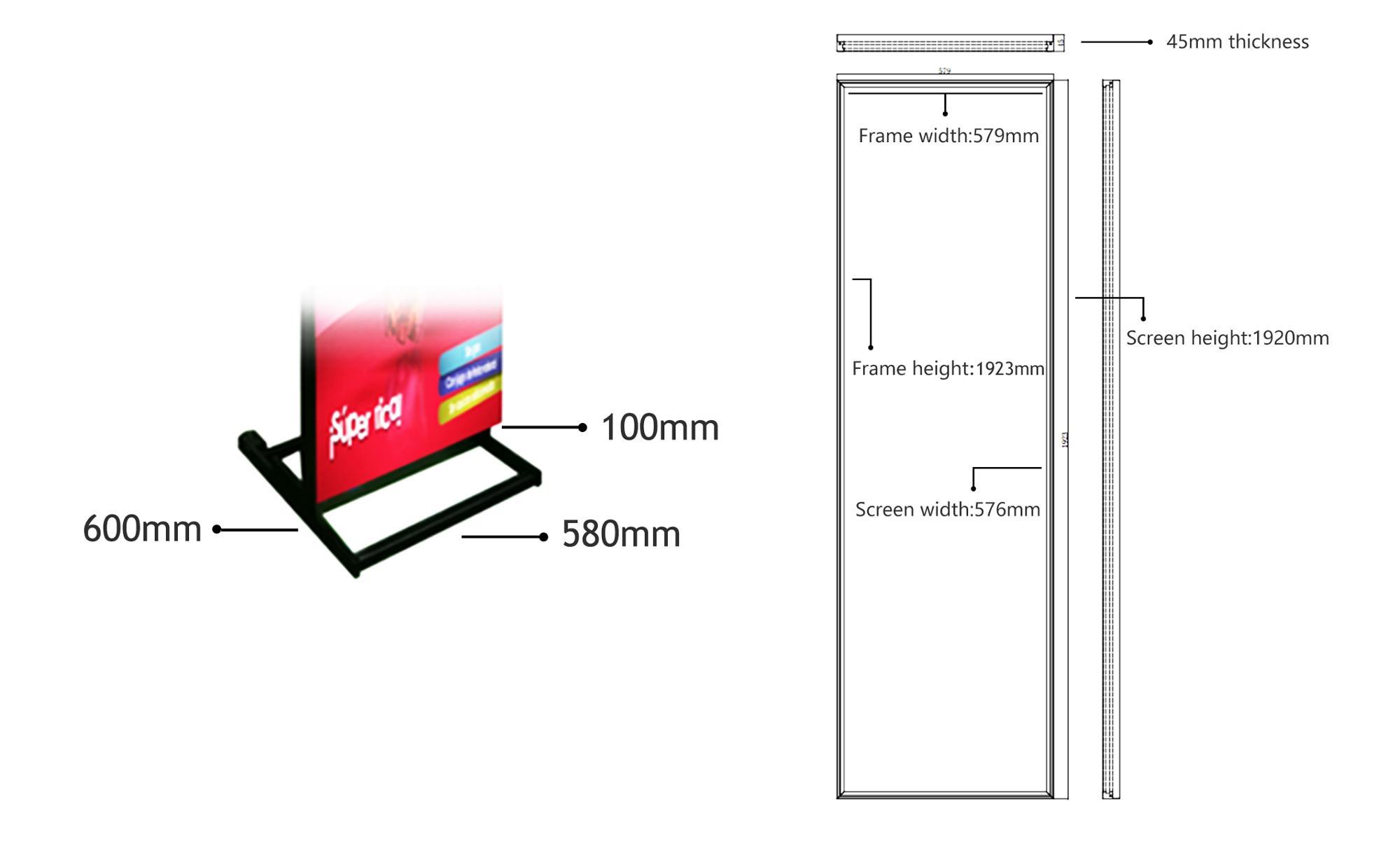 LED Digital P2.5 P3 3D Effetto Abbinabile stand-alone pubblicità digitale LED Stampa di Poster display A LED