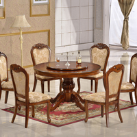 Classic furniture round dinning sets vintage dining tables kitchen dining furniture