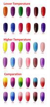 6pcs Color 1000 Soak Off Color Changing UV Gel Nail polish Temperature Change Nail Art Polish