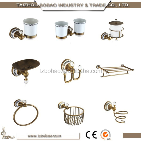 Old Fashioned Vintage Metal Bathroom Sanitary Wares For In Wall Crystal Antique Brass Bathroom