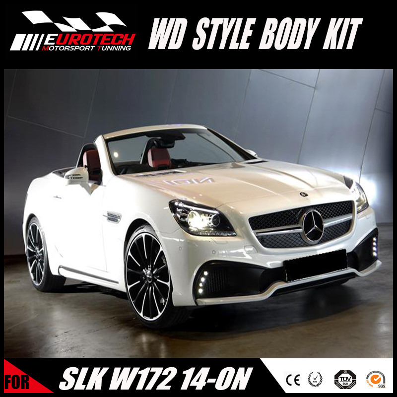 hot selling SLK CLASS R172 Converted kit to WD style body kit front bumper fitting for MB SLK-class R172 2014Y~