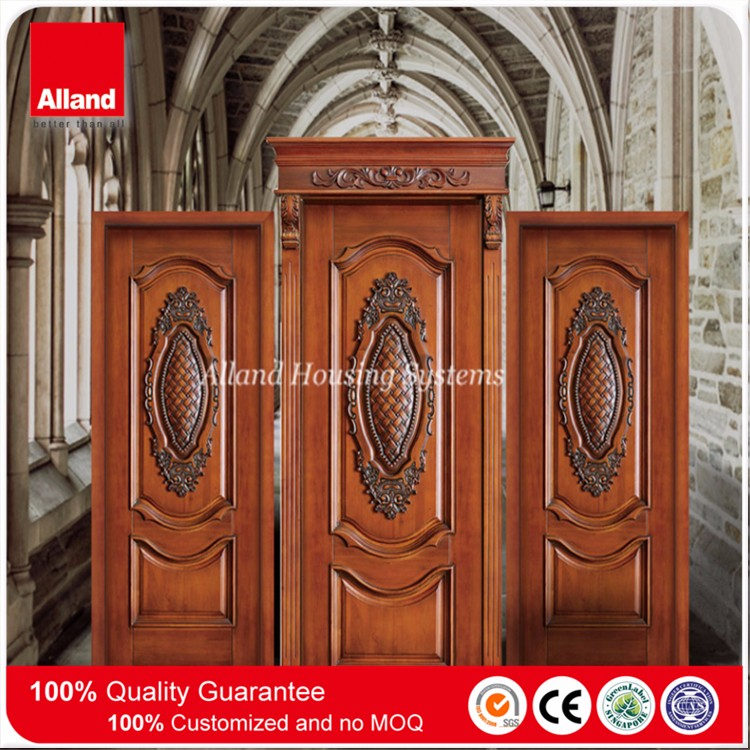 Teak wood color hand carved interior solid mahogany