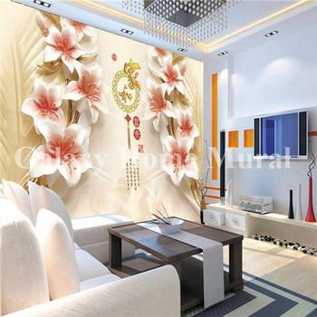 Benutzerdefinierte Fototapete 3d Wohnzimmer Tv Sofa Reich Magnolie Blüte  Großes Wandbild 3d Tapete - Buy Individuelle Fototapeten,3d Wohnzimmer Tv  ...
