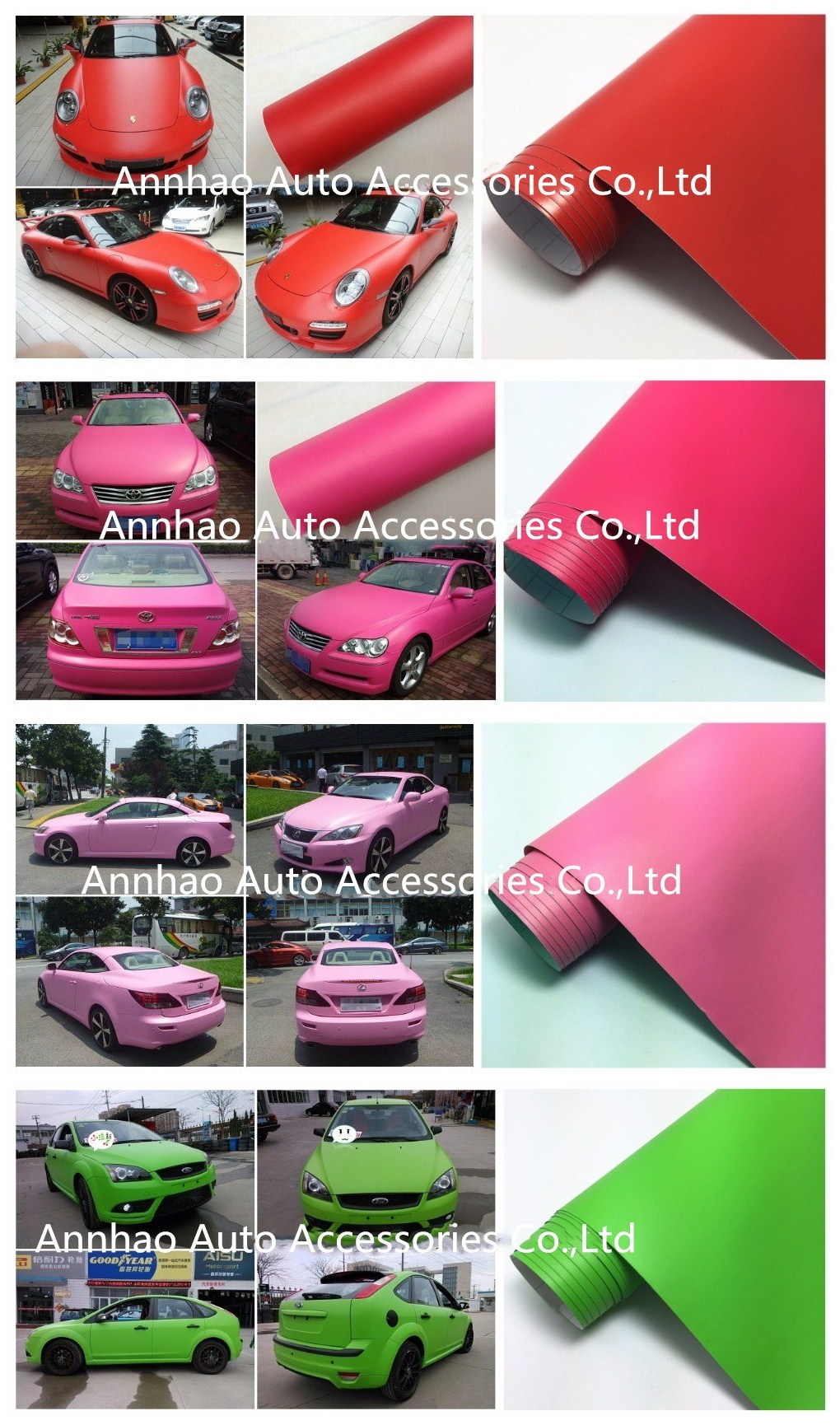 PVC self adhesive vinyl film matte army green car vinyl wrap