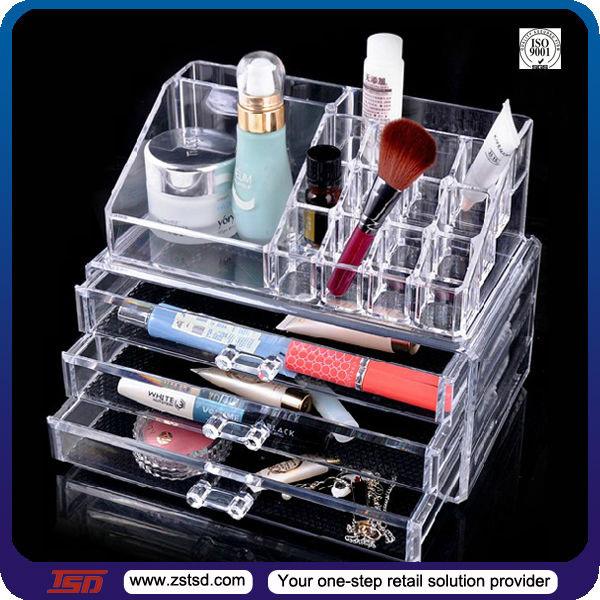 Tsd-a915 Wholesale Cheap Acrylic Makeup Organizer With Drawers/makeup Organizer Box/make Up ...