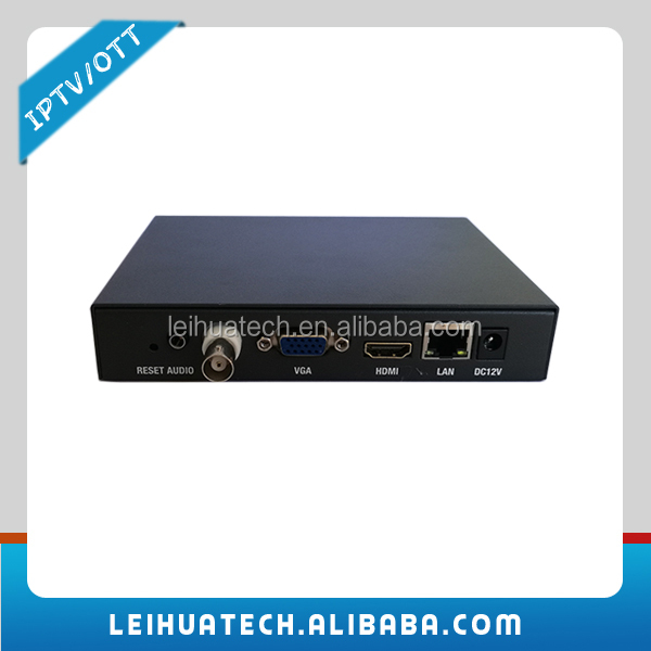 H.264 H.265 IP HTTP/RTMP/UDP/RTSP Decoder HD MI + VGA + SDI/CVBS Decodifica per Video Flusso Audio Decoder