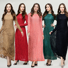 New Arrival Islamic Muslim Lace Dresses For Women Moroccan Wedding Kaftans 2018
