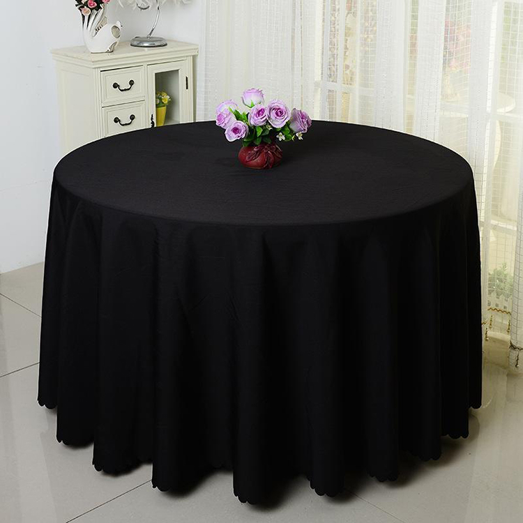 wholesale fabric dining round blue table cloth tablecloth