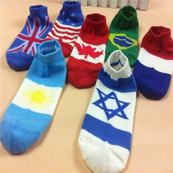 Mens England France Canada Usa National Flag Ankle Socks Buy Usa