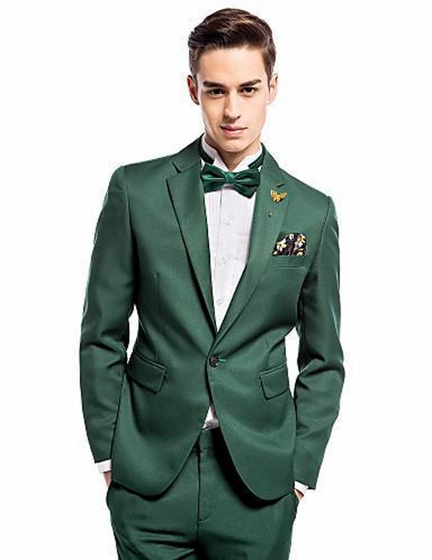 Green Slim Fit Suit Dress Yy