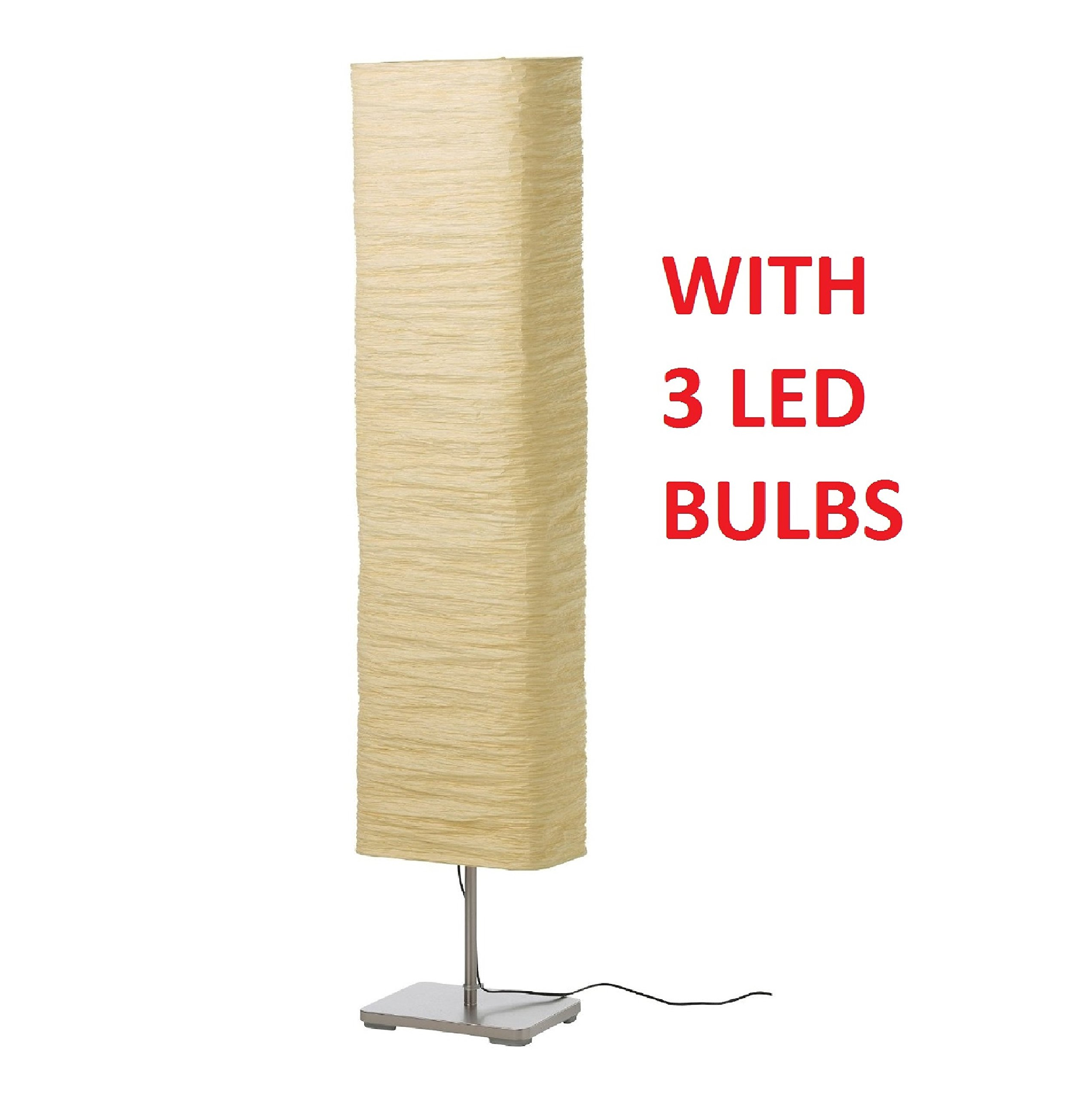 Buy New Ikea Magnarp Floor Lamp Light Rice Paper Shade Gives A Soft Glowing Light In Cheap