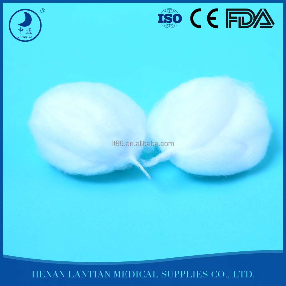 Factory manufacturer sterilize medical big cotton wool balls for hospital/clinic/Department of gynaecology