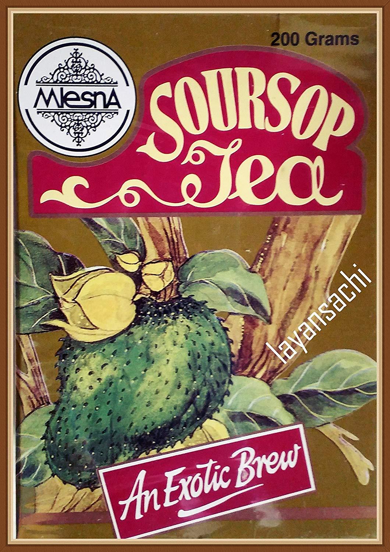 Mlesna Pure Ceylon Soursop Black Tea Graviola Loose Tea Boxes. (200g [7.05 Oz])