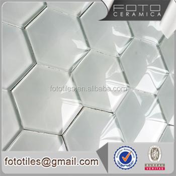 Mosaico Di Vetro Di Cristallo 3d Forma Esagonale Rivestimento Cucina ...