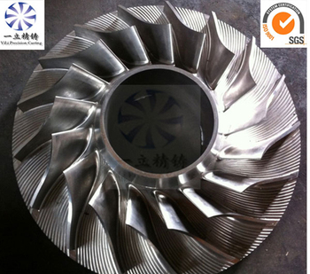 High Precision Stainless Steel Five Axis Cnc Machining Turbo Impeller Used For Gas Turbine Engine Or