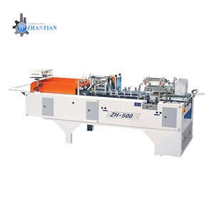 ZH-500 Factory Sale 220V Food Medical Carton Box Folding Automatic Mini Folder Gluer Machine
