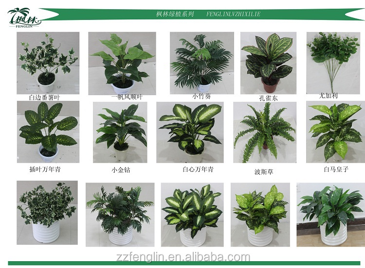 Factory Cheap Artificial Plants All Kinds Of Artificial Philodendron  Selloum Plant Make Artificial Plant For Living Part 77