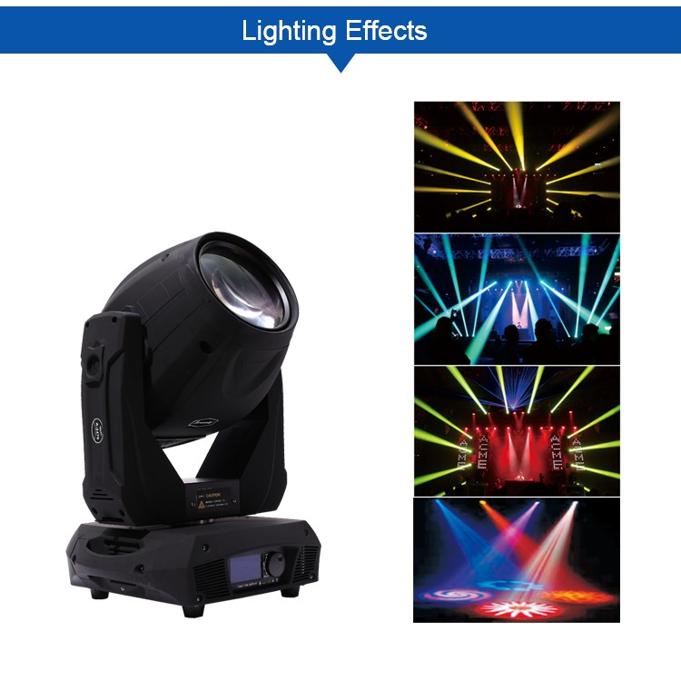 stage effect lighting beam moving head 17r beam spot wash 3 in 1 350w moving head