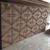 various patterns cheap MDF 3D wood panel for TV wall