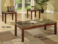 rectangular coffee table and end tables with marble top made in china