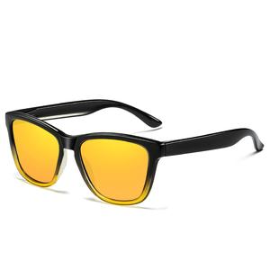 new fashion brand design hk square unisex polarized sunglasses
