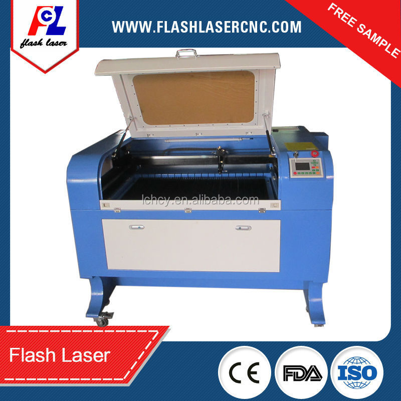 China manufacture low cost 900*600mm 80W laser engraving cutting machine 6090