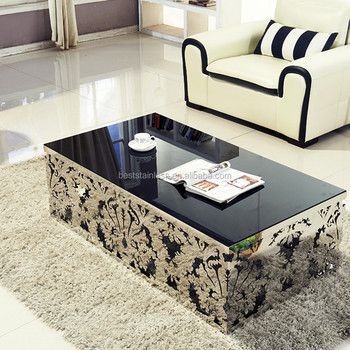 Fantastic Black Tempered Glass Top Square Laser Cutting Steel Coffee Table For Living Room Buy Coffee Table For Living Room Square Coffee Table Laser Cutting Beutiful Home Inspiration Xortanetmahrainfo