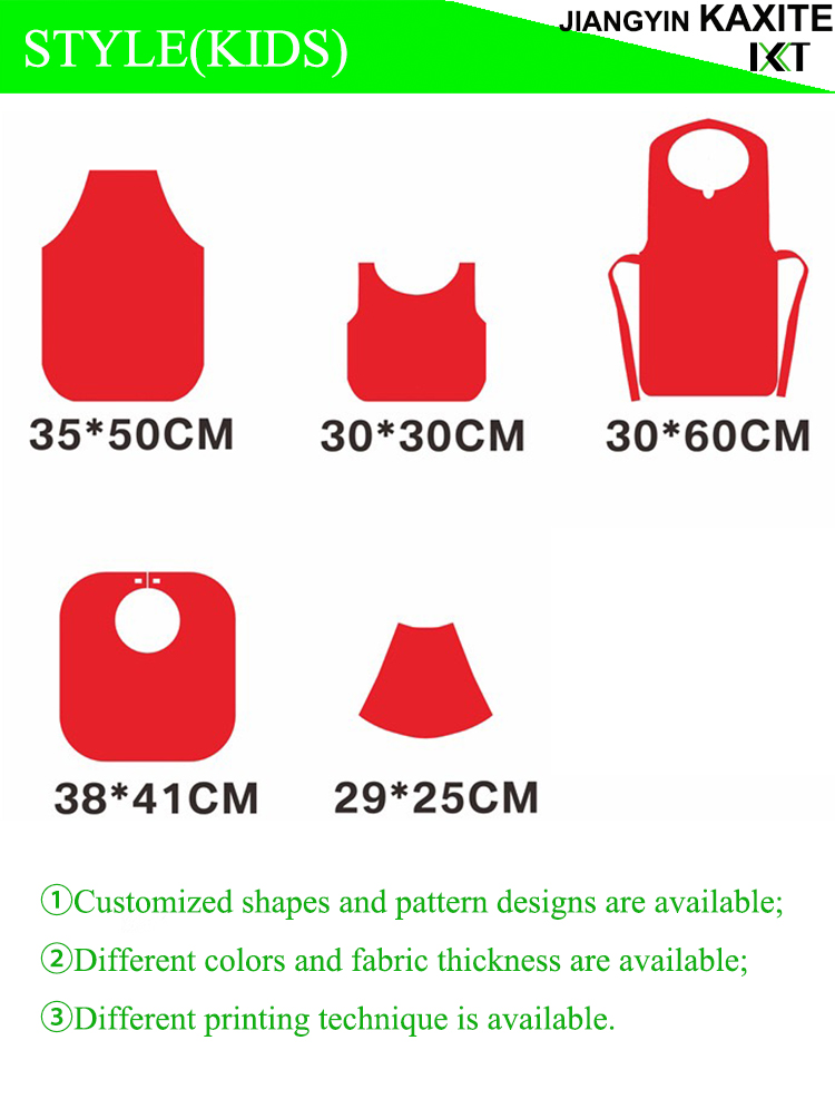 Good Quality Waterproof Disposable Nonwoven Fabric Children Apron Bib