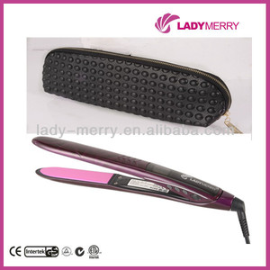 Professional in style vibration nano titanium camo hair straightener flat iron inoar