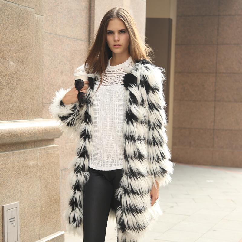 Faux fur jacket for women