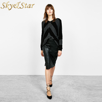 new latest design lady Fashion sexy long bodycon leather pencil skirt