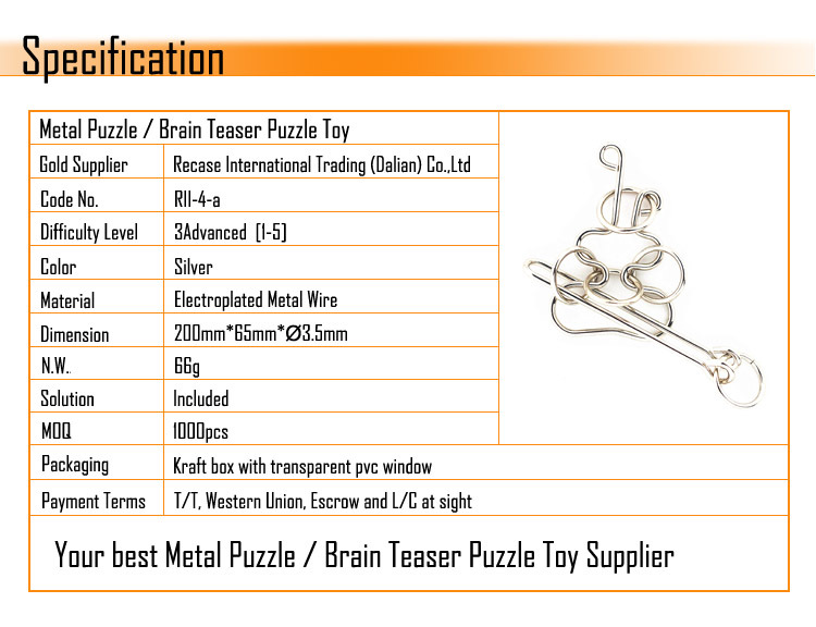 Interlocking Metal Puzzle Item For Adult Iq Metal Brain Teaser ...