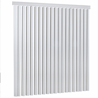 Pure white PVC aluminum Motorized vertical blinds